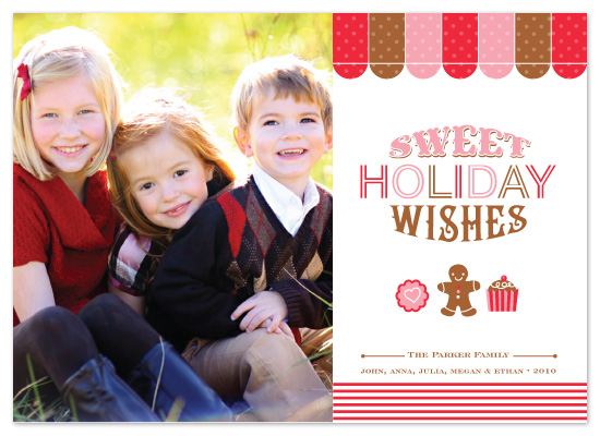 holiday photo cards - Sweet Holiday by Coco and Ellie Design