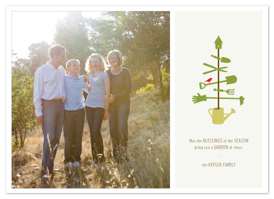 holiday photo cards - green holiday by Laura Coggins