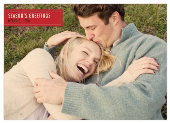 holiday photo cards - Retro Rectangle by Saddle Stitch Studio