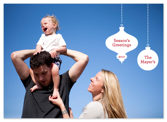 holiday photo cards - Simple Season's Greetings by Saddle Stitch Studio