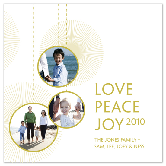 holiday photo cards - Golden Ornaments by Snow and Ivy