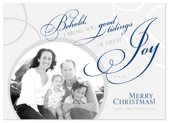 holiday photo cards - Behold Great Joy! by Laura Hannah