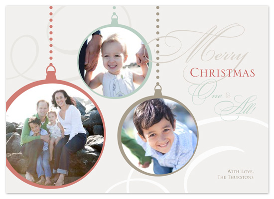 holiday photo cards - Elegant Ornaments by Laura Hannah