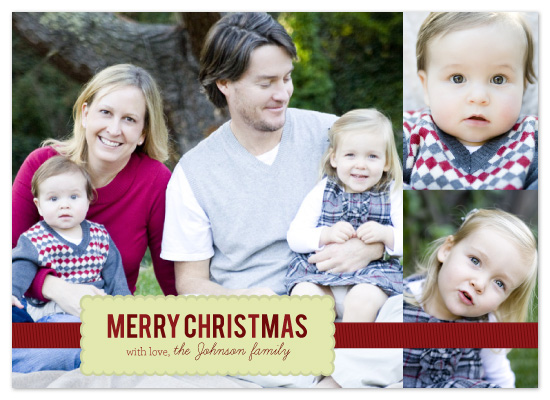 holiday photo cards - Merry Christmas by Christi Marcheschi