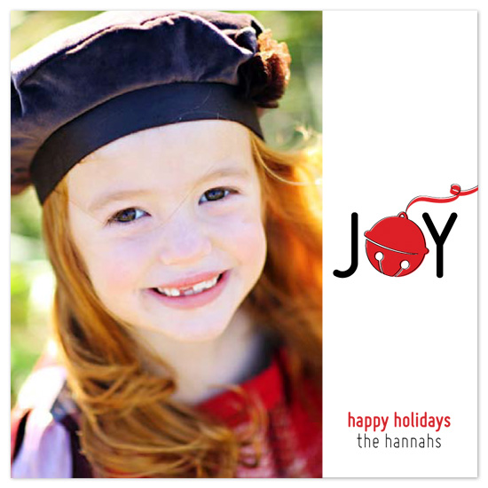 holiday photo cards - Jingle Bell Joy by Laura Hannah