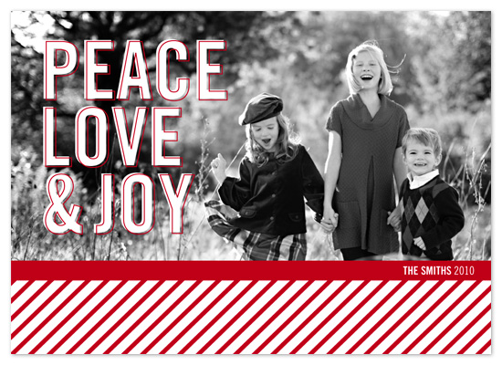 holiday photo cards - Peace Love & Joy by Laura Hannah
