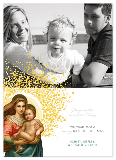 holiday photo cards - Madonna & Child by Sarah Lenger