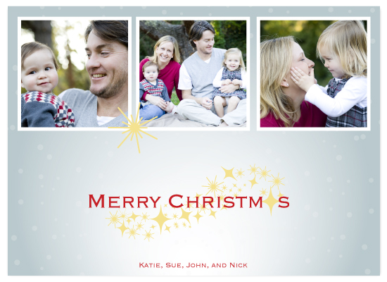 holiday photo cards - Starry Christmas Night by Sarah-fina