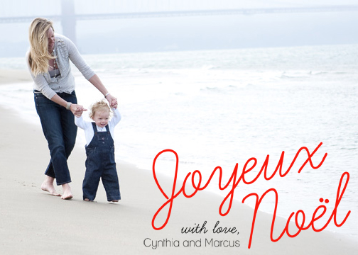 holiday photo cards - Joyeux Noel by Pauselius