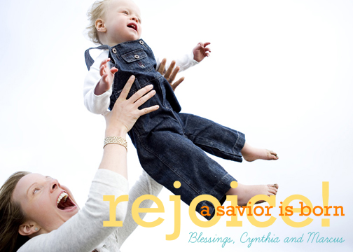 holiday photo cards - Rejoice! by Pauselius