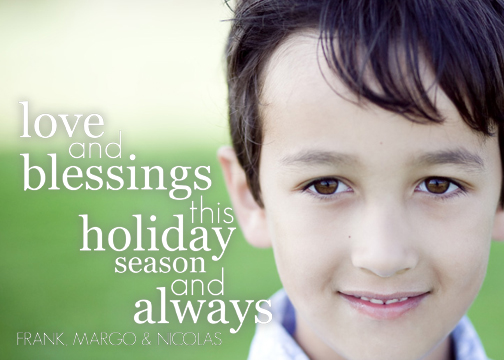 holiday photo cards - Love & Blessings by Pauselius