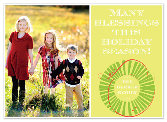 holiday photo cards - Christmas Wreath by Napkin Rings and Elephant Ears
