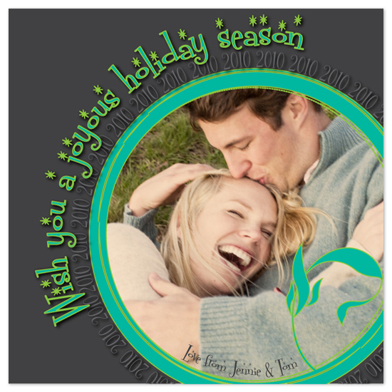 holiday photo cards - Joyous Holiday Greeting by pst.fish designs