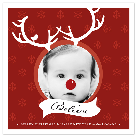 holiday photo cards - Little Rudolph by Snow and Ivy