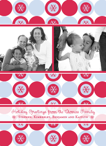 holiday photo cards - Holiday Snowflakes by Maxeli Designs