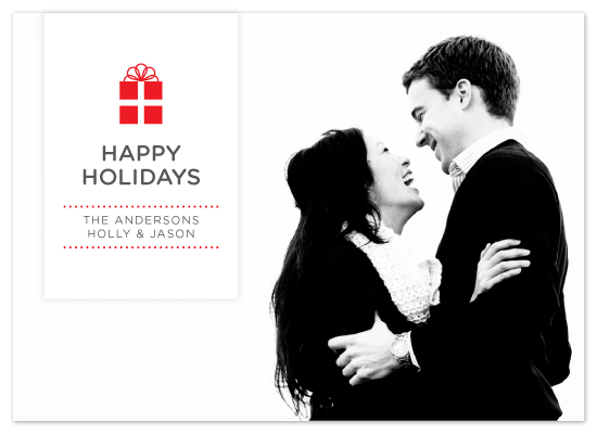 holiday photo cards - Luxe Gift by Saddle Stitch Studio