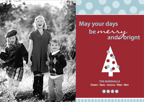 holiday photo cards - Merry & Bright by Kristin Woodwick