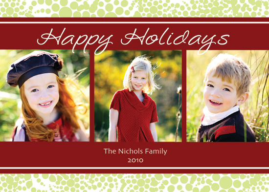 holiday photo cards - Bubbly swirls by Lulu Creates
