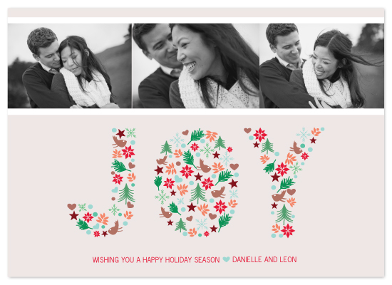 holiday photo cards - collage of joy by Dear Lola