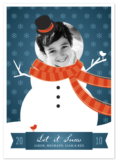 holiday photo cards - Let it Snowman by Snow and Ivy