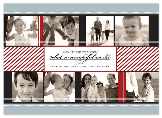 holiday photo cards - Wonderful World by The Opened Envelope