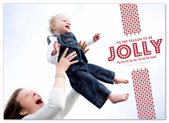 holiday photo cards - jolly dots by sweet tree studio
