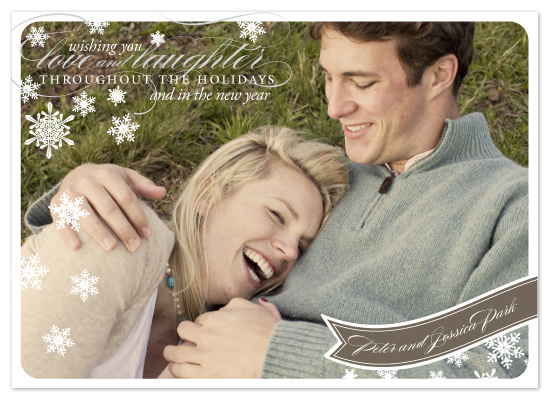 holiday photo cards - Lovely Wishes by Sarah Brown
