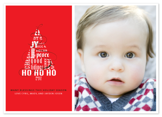 holiday photo cards - flourished holiday by R studio