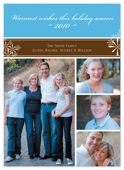 holiday photo cards - Classy Snowflakes by Rachel Barnes