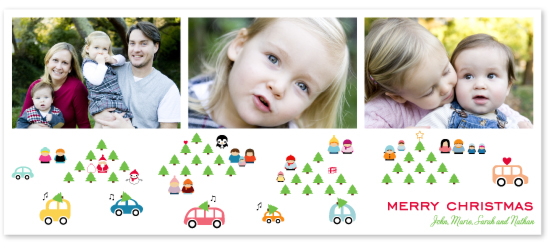 holiday photo cards - Busy, Happy Holidays by W.Fukuyama