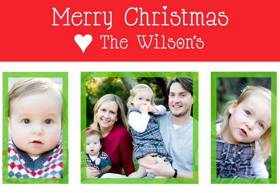 holiday photo cards - Heart The Wilsons by Caitlin Afton