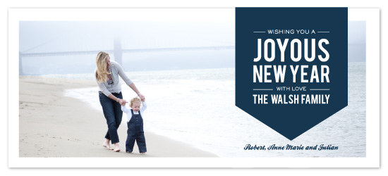 holiday photo cards - Joyous Year by Milkmaid Press