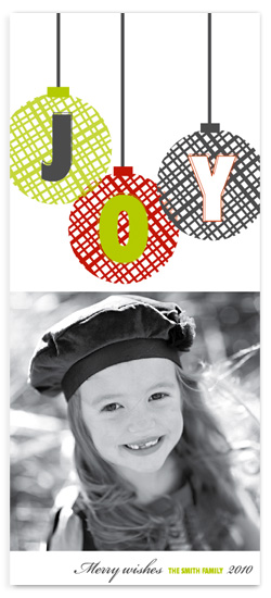 holiday photo cards - JOY by Trendy Peas