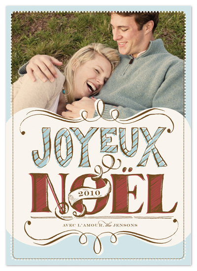 holiday photo cards - joyeux noel by pottsdesign