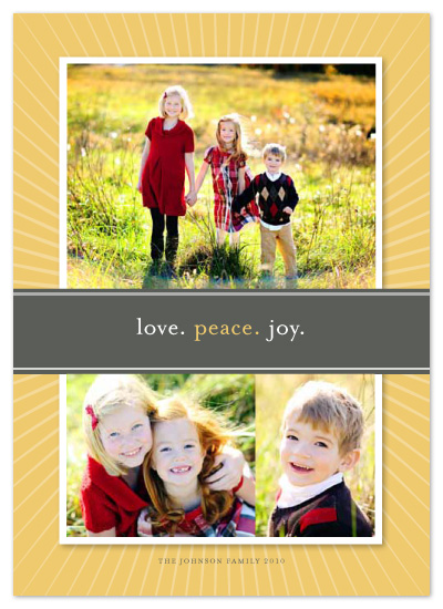 holiday photo cards - love peace joy by sweet tree studio