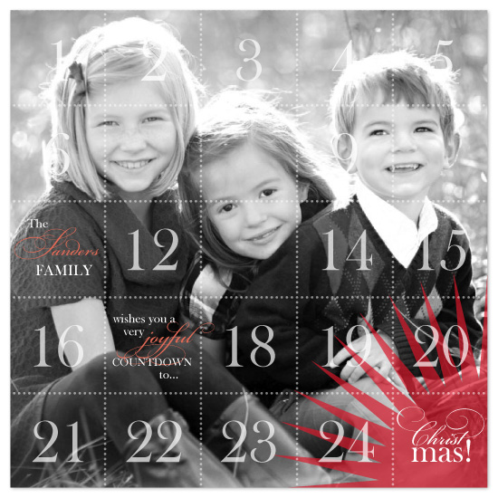 holiday photo cards - advent by Karen Glenn