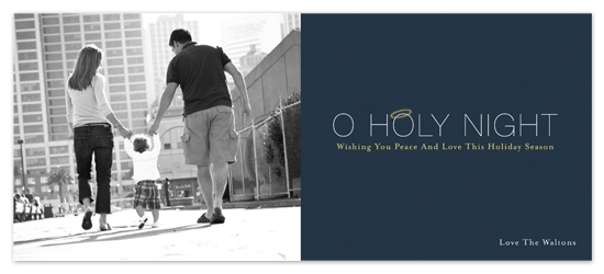 holiday photo cards - O Holy Night by Paperview Designs