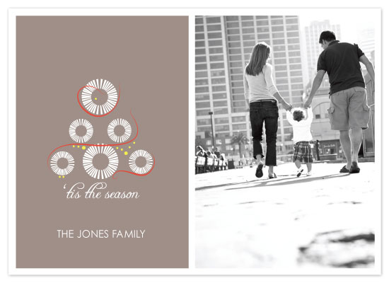 holiday photo cards - white christmas tree by Napkin Rings and Elephant Ears