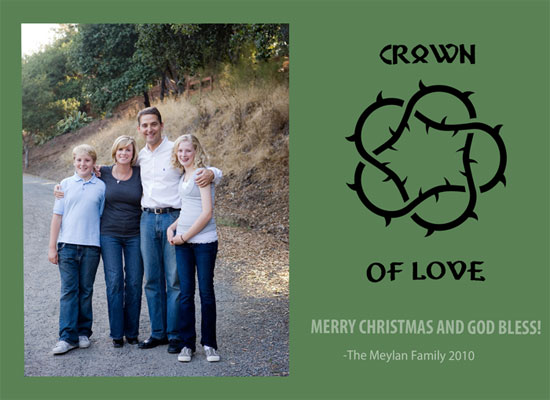 holiday photo cards - crown of thorns by Danielle  Kasony