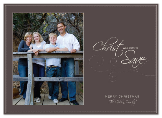 holiday photo cards - Born to Save by The Speckled Duck