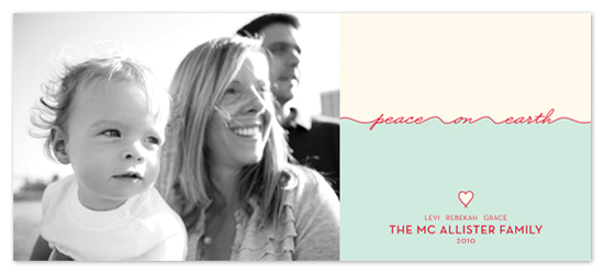holiday photo cards - float + peace on earth by Float Paperie