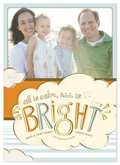 holiday photo cards - all is bright by pottsdesign