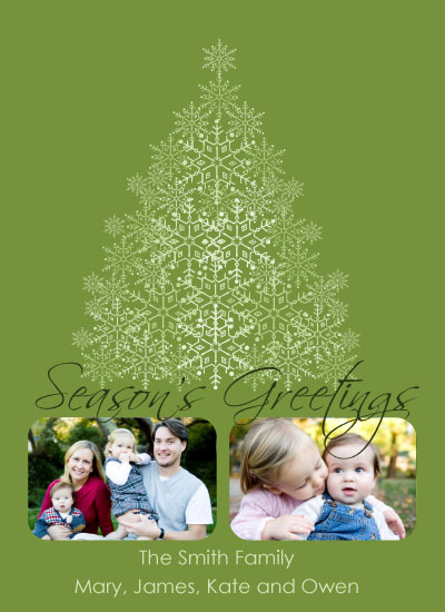holiday photo cards - Snowflake Tree by Annie Walsh