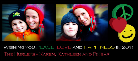 holiday photo cards - Peace, Love and Happiness by Karen Hurley