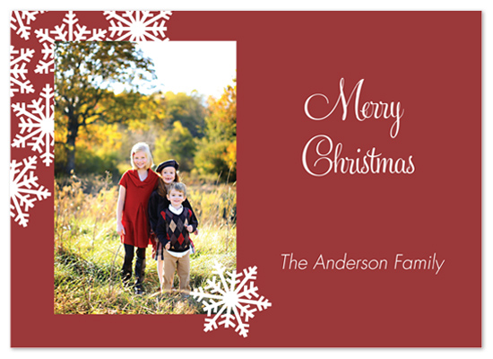 holiday photo cards - Family Snowflakes by Laurel Goodroe