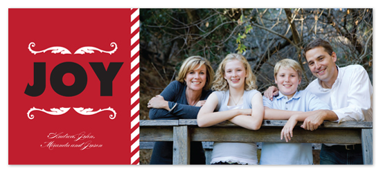 holiday photo cards - Joy by Laurel Goodroe