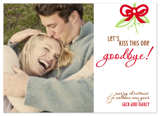 holiday photo cards - Kiss it Goodbye! by Kim Mitchell