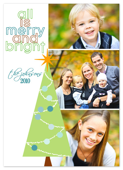 holiday photo cards - All is Merry by Kim Mitchell
