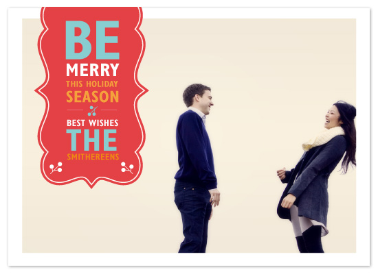 holiday photo cards - Be Merry by chica design