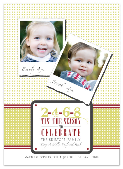 holiday photo cards - Tis the Season by The Opened Envelope